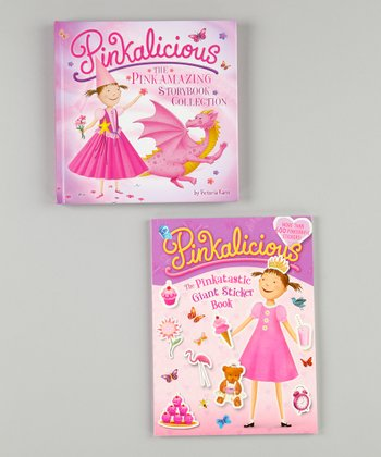 Pinkalicious Sticker Book & Storybook Paperback Set