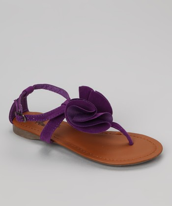 Purple Beach Flower Sandal