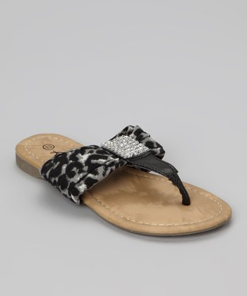 Black Leopard Beach 48 Sandal