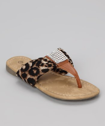 Brown Leopard Beach 48 Sandal