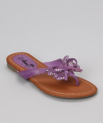 Purple Beach Butterfly Sandal