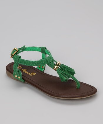 Green Tassel Beach 56 Sandal