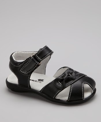 Black Bow Sandal