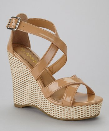 Beige Mix-2 Wedge Sandal