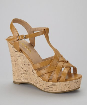 Camel Mix-4 Wedge Sandal