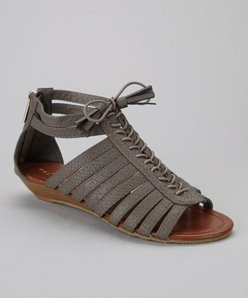 Gray Simon-1 Gladiator Sandal