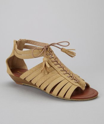 Tan Simon-1 Gladiator Sandal