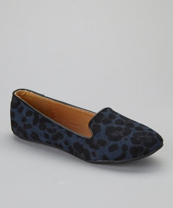 Blue Leopard Sonia-12 Loafer