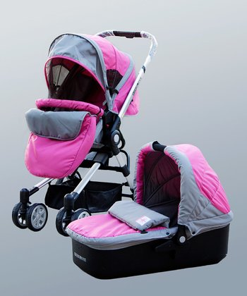 Pink Two-in-One Bassinet Stroller