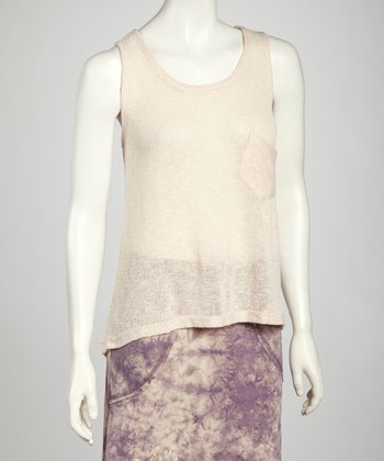 Blush Loop Knit Pocket Tank