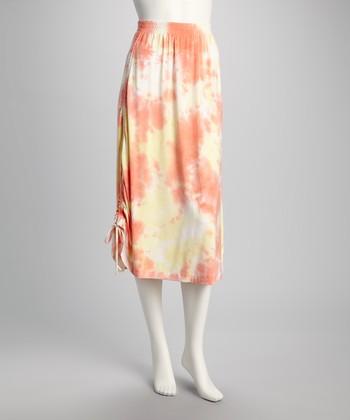 American Buddha by Yogi Orange Sherbet Skirt