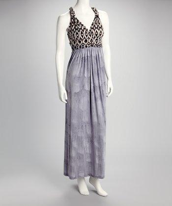 American Buddha by Yogi Black & Gray Petal Maxi Dress