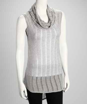 Heather Gray Cowl Neck Top