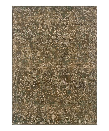 Brown Foliage Rug