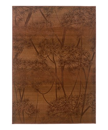Rust Through the Trees Rug