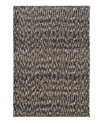 Ivory & Black Diamond Rug