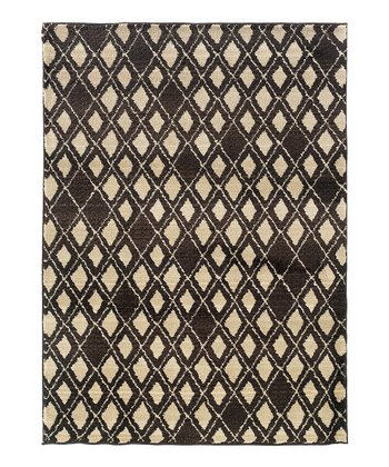 Brown & Ivory Missing Diamonds Rug
