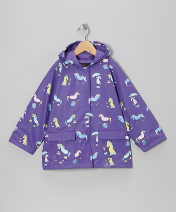 Purple Pony Pals Raincoat - Infant, Toddler & Kids