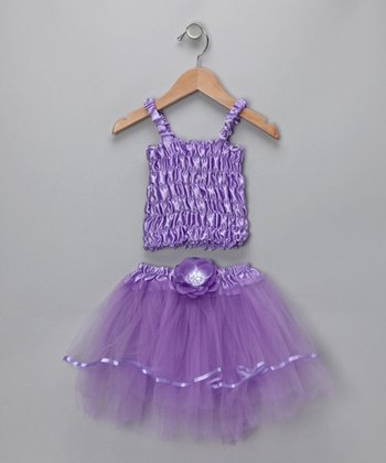 Purple Crinkle Tank & Tutu - Toddler