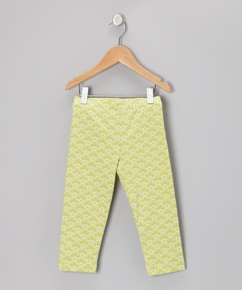 Lime Perfection Cropped Leggings - Girls