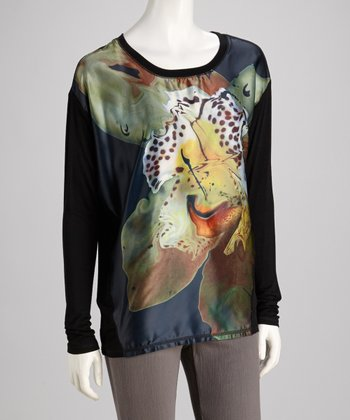 Black Orchid Long-Sleeve Top
