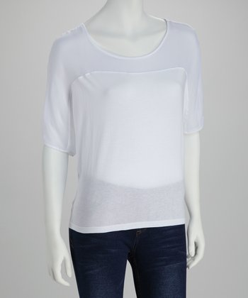 Optic White Short-Sleeve Top