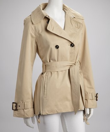 Light Khaki Raincoat