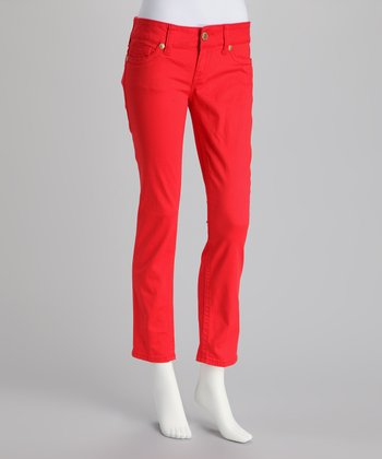 Punch Red Skinny Pants