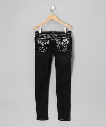 Black Wash Bling Skinny Jeans