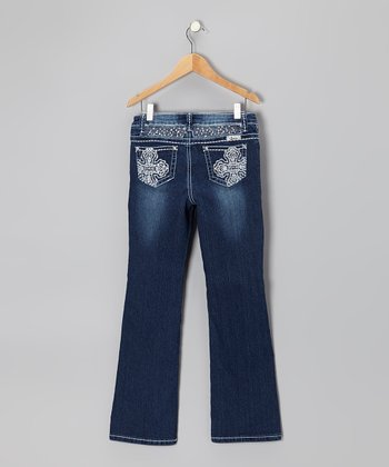 Medium Wash Cross Bootcut Jeans