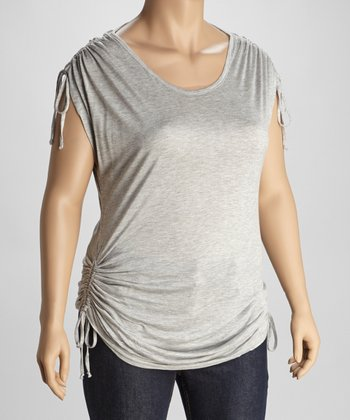 Heather Gray Top - Plus