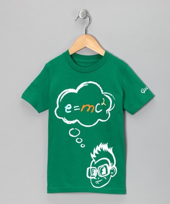 Geekie Kelly Green 'E=MC2' Tee - Kids