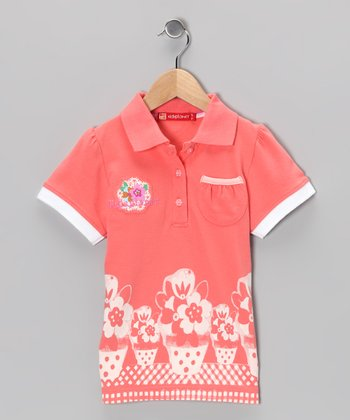 Rose Flower Polo - Infant, Toddler & Girls