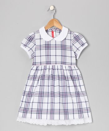 Pink & Blue Plaid Dress - Infant & Girls