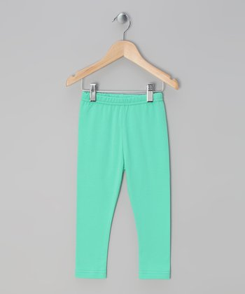 Green Basic Milly Leggings - Toddler & Girls