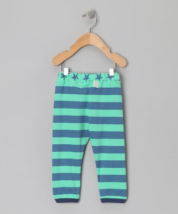 Green Stripe Alex Pants - Infant