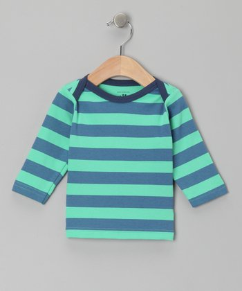 Green Stripe & Star Ben Tee - Infant