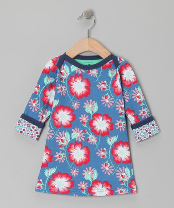 Azure Floral Emma Dress - Infant