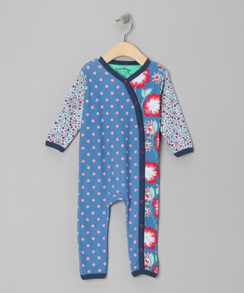 Azure Floral & Polka Dot Miko Playsuit - Infant