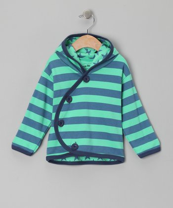 Green Stripe Oliver Hoodie - Infant