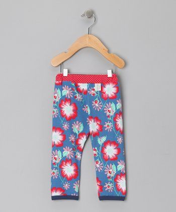 Azure Floral Poppy Pants - Infant