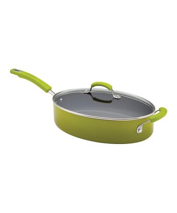 Green 5-Qt. Covered Sauté Pan