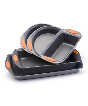 Orange Five-Piece Bakeware Set