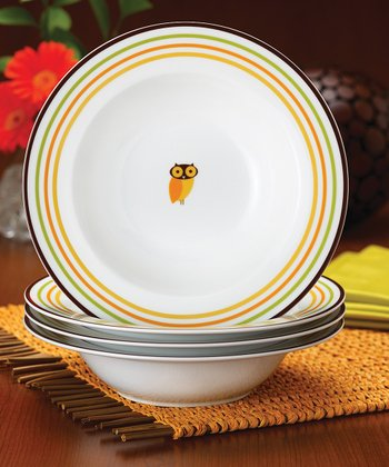 Little Hoot Pasta Bowl - Set of Four