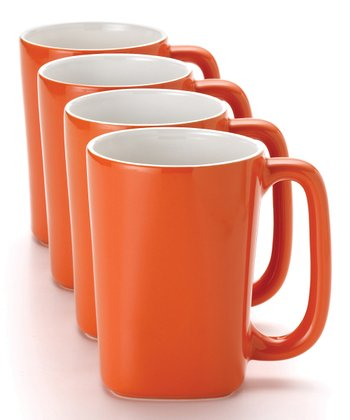 Orange 14-Oz. Mug - Set of Four