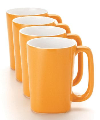 Yellow 14-Oz. Mug - Set of Four