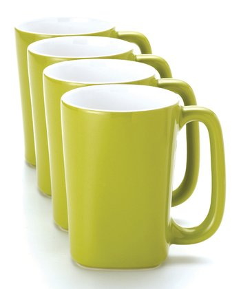 Green 14-Oz. Mug - Set of Four