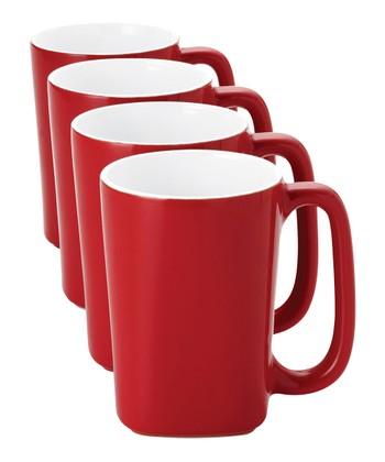 Red 14-Oz. Mug - Set of Four