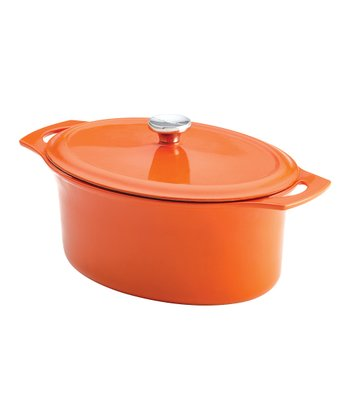 Orange 6.5-Qt. Oval Dutch Oven