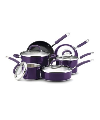 Purple 10-Piece Cookware Set
